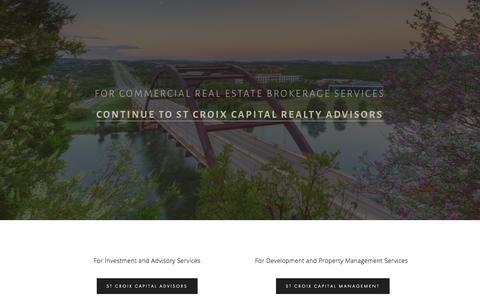 Screenshot of Home Page stcroixca.com captured Sept. 6, 2015