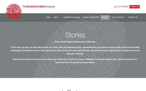 Screenshot of Case Studies Page redrubberball.co.uk - Stories | The Red Rubber Ball Company - captured Nov. 5, 2014