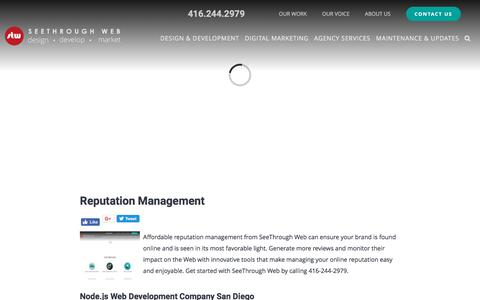 Screenshot of Press Page seethroughweb.com - Reputation Management - News - SeeThrough Web - captured Nov. 12, 2017