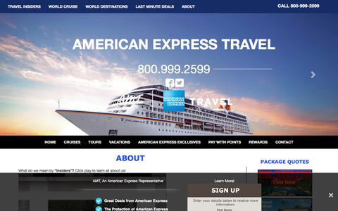 Screenshot of About Page amttravel.com - About AMT, an American Express Travel Representative, a Full Service Travel Agency - captured Oct. 7, 2017