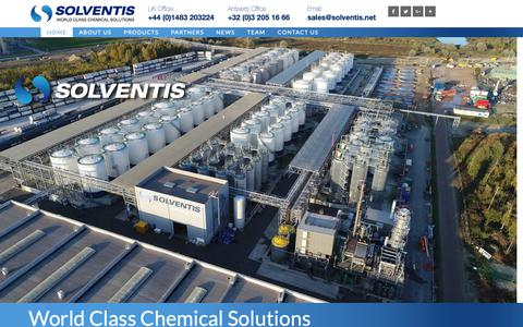 Screenshot of Home Page solventis.net - World Class Chemical Solutions | Solventis - captured Oct. 20, 2018