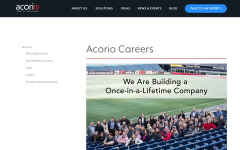 Careers at Acorio