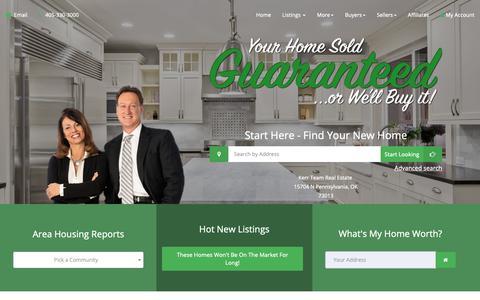 Screenshot of Home Page kerrteam.com - Real Estate & Homes For Sale - captured Dec. 20, 2018