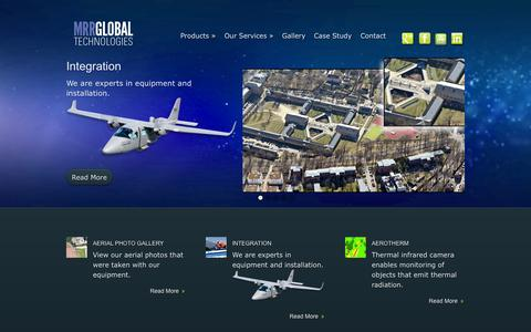Screenshot of Home Page globalmrr.com - MRR GLOBAL TECHNOLOGIES - Solutions for Aerial Survey - captured Oct. 4, 2014