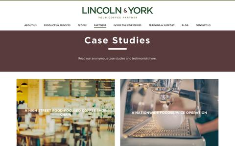 Screenshot of Case Studies Page lincolnandyork.com - Case Studies | Lincoln & York - captured Jan. 30, 2016