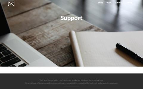 Screenshot of Support Page webmachine.io - Support - Web Machine - captured Oct. 10, 2014