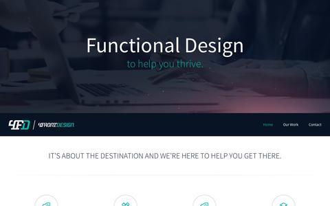 Screenshot of Home Page 4frontdesign.com - 4FrontDesign | Logos & Branding, Graphic Design, Web Design & Printing - captured Dec. 11, 2016