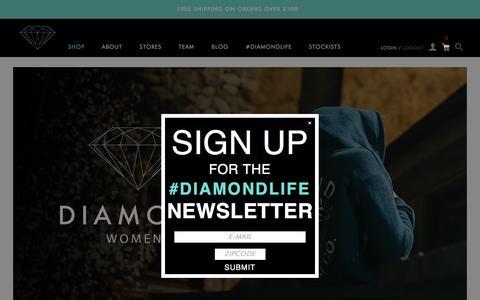 Screenshot of Home Page diamondsupplyco.com captured Dec. 4, 2015