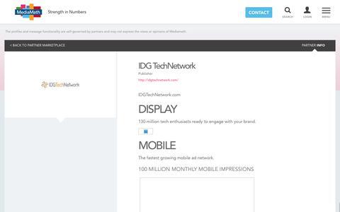 IDG TechNetwork - Partner Marketplace – MediaMath