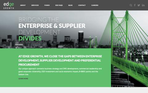 Screenshot of Home Page edgegrowth.com - Edge Growth | Enterprise and Supplier Development - captured Nov. 4, 2018