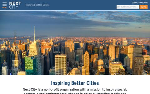 Screenshot of About Page nextcity.org - About Us – Next City - captured Sept. 22, 2014