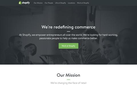 Screenshot of Jobs Page shopify.com - Careers and jobs at Shopify - Shopify - captured Dec. 1, 2015