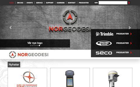 Screenshot of Home Page norgeodesi.no - Norgeodesi – din leverandør av posisjoneringsutstyr - captured Nov. 19, 2018