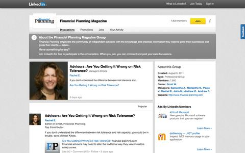 Screenshot of LinkedIn Page linkedin.com - Financial Planning Magazine | LinkedIn - captured Oct. 29, 2014