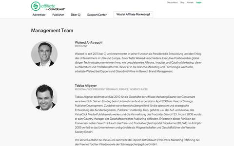 Screenshot of Team Page cj.com - Management Team | CJ Affiliate by Conversant (formerly Commission Junction) - captured May 15, 2018