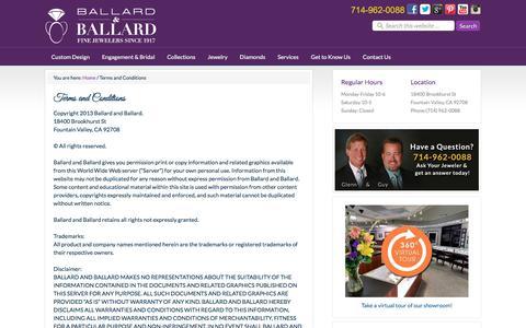 Screenshot of Terms Page ballardgem.com - Terms of Service - Ballard & Ballard - Orange County - captured Oct. 9, 2017