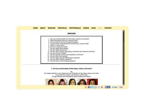 Screenshot of Services Page emaface.com captured Oct. 3, 2014