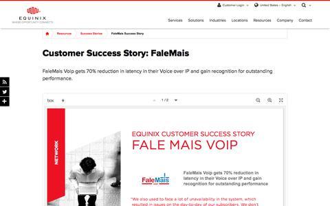 Screenshot of Case Studies Page equinix.com - FaleMais Customer Success Story | Equinix - captured Dec. 29, 2017