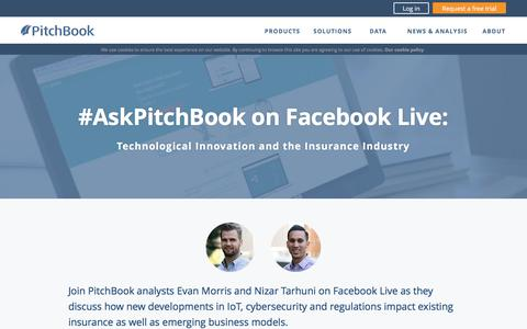 Screenshot of Landing Page pitchbook.com - #AskPitchBook on Facebook Live - captured Feb. 8, 2017