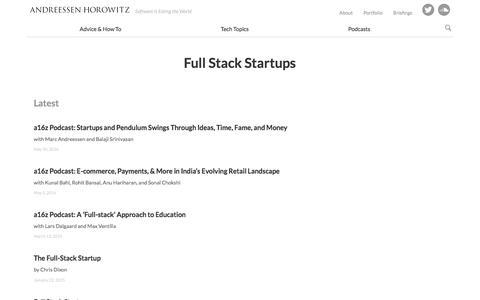 full stack startups – Andreessen Horowitz