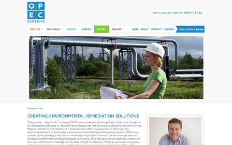 Screenshot of opecsystems.com - Environmental Remediation Solutions in Australia; OPEC Systems - captured Oct. 21, 2014