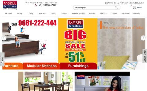Screenshot of Home Page mobelhomestore.com - Furniture Online - Buy Furniture Online India - MobelHomeStore - captured Jan. 22, 2015
