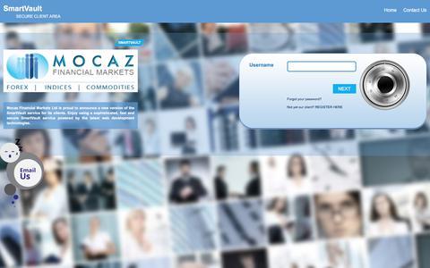 Screenshot of Login Page mocaz.com - Mocaz - captured Aug. 8, 2017