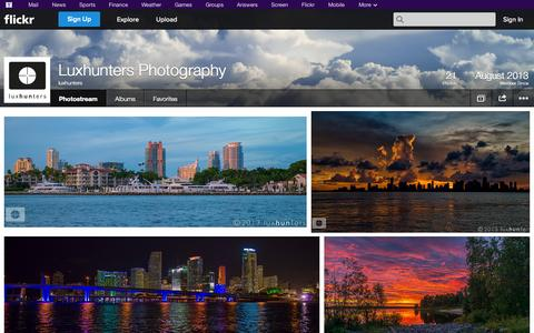 Screenshot of Flickr Page flickr.com - Flickr: luxhunters' Photostream - captured Oct. 23, 2014