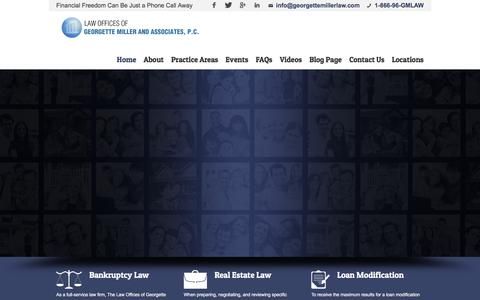 Screenshot of Home Page georgettemillerlaw.com - Georgette Miller Law | Bankruptcy Attorneys | Serving NYC, PA, NJ, MD, D.C. - captured Jan. 26, 2016