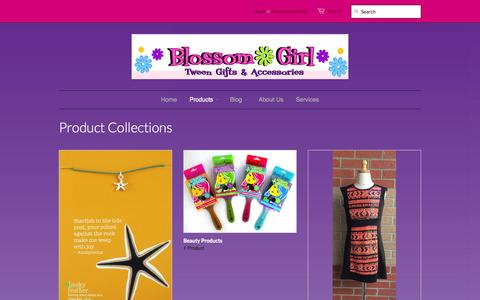 Screenshot of Products Page blossomgirl.com - Collections – Blossom Girl - captured Oct. 10, 2014