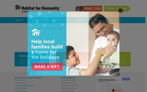 Screenshot of Signup Page habitatomaha.org - Join Habitat Omaha News   Habitat for Humanity - captured Dec. 13, 2018