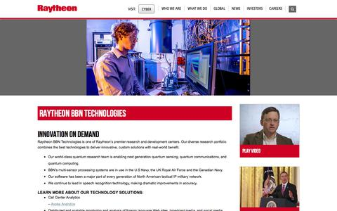 Raytheon: Raytheon BBN Technologies