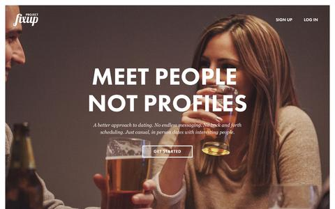 Screenshot of Home Page projectfixup.com - Project Fixup | Meet People Not Profiles - captured Sept. 17, 2014