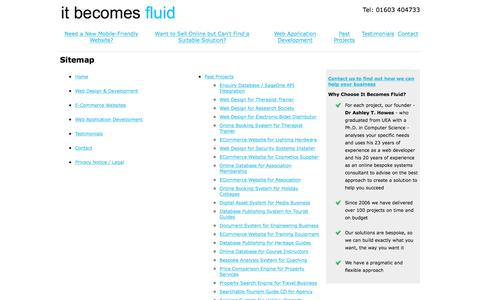 Screenshot of Site Map Page itbecomesfluid.com - Sitemap | It Becomes Fluid - captured Oct. 15, 2017