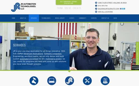 Screenshot of Services Page jrauto.com - Intelligent Designs and Services - captured April 20, 2017