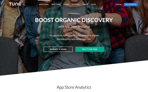 Boost organic discovery with App Store Analytics | TUNE