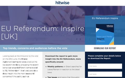 Screenshot of Landing Page connexity.com - Hitwise UK | EU Referendum Inspire - captured Nov. 4, 2016