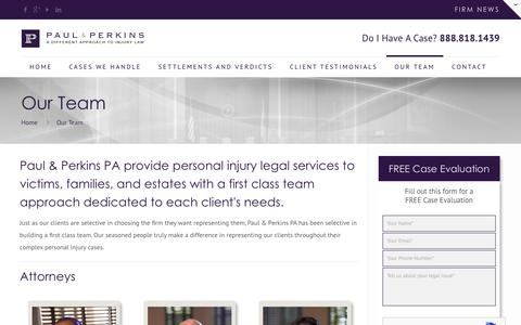 Screenshot of About Page paulandperkins.com - About Us - Paul and Perkins PA - captured June 10, 2018