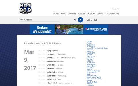 Songs Archive - HOT 96.9 Boston