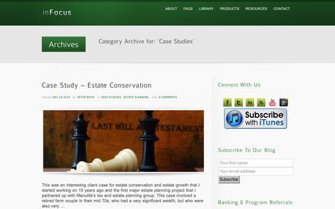 Screenshot of Case Studies Page boysfin.ca - Case Studies Archives - Boys Financial Services (Stettler) - captured Oct. 6, 2018