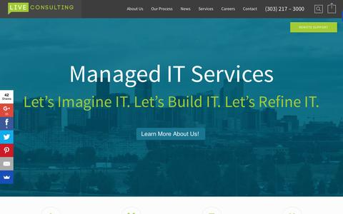 Screenshot of Home Page liveconsulting.com - Live Consulting – Denver IT Support Home - Live Consulting - Denver IT Support - captured April 20, 2016