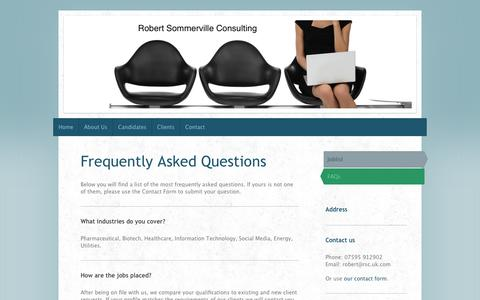 Screenshot of FAQ Page rsc.uk.com - FAQs - captured Oct. 6, 2014