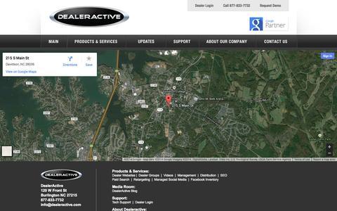 Screenshot of Maps & Directions Page dealeractive.com - Contact DealerActive - captured Sept. 30, 2014