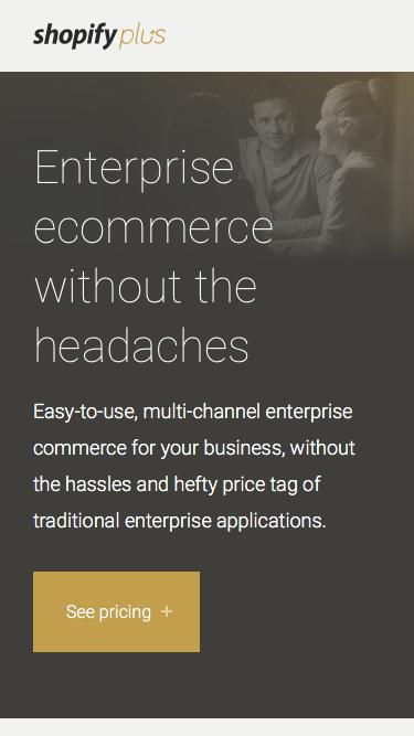Scalable Enterprise Ecommerce Platform | Shopify Plus