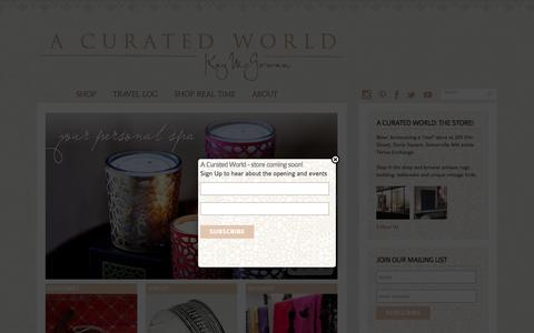 Screenshot of Home Page kaymcgowan.com - Shop the Globe with A Curated World by Kay McGowan - captured Dec. 5, 2016