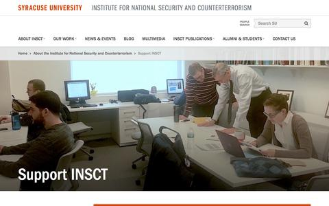 Screenshot of Support Page syr.edu - Support INSCTInstitute for National Security and Counterterrorism - captured Jan. 22, 2017