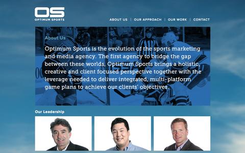 Screenshot of About Page optimumsports.com - Optimum Sports - captured Oct. 7, 2014