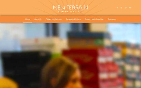 Screenshot of Home Page new-terrain.com - Colorado Health & Wellness  | New Terrain - captured Jan. 10, 2016