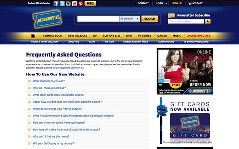Screenshot of FAQ Page blockbuster.com.au - Blockbuster - captured Sept. 22, 2014
