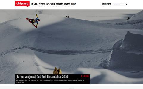 Screenshot of Press Page skipass.com - le blog news Ski/Snowboard - captured Jan. 14, 2016